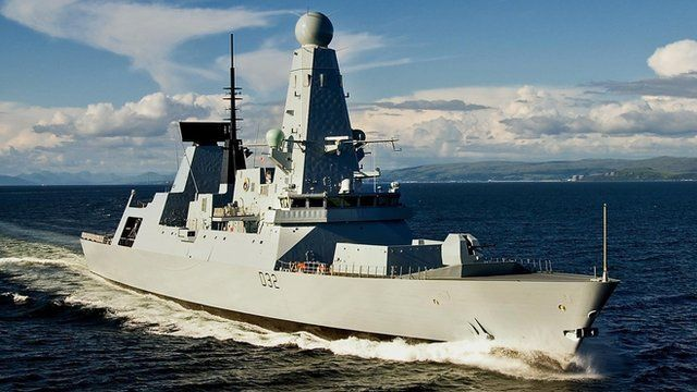 Royal Navy's new Type 45 destroyer, HMS Daring