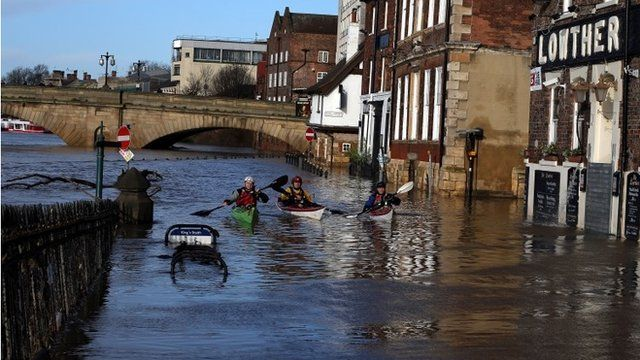 Flooding amid soggy start to 2016 - BBC News