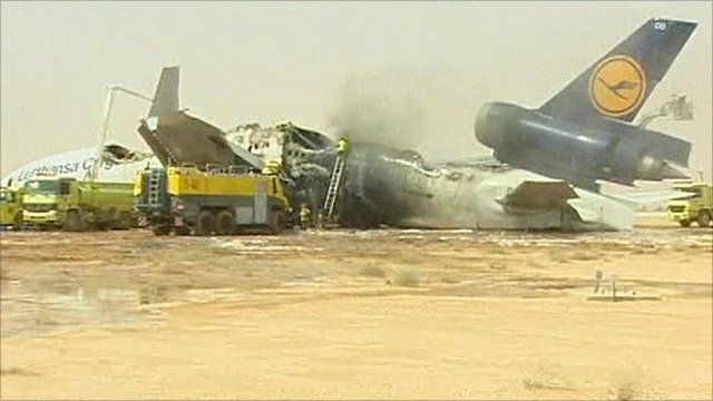 Lufthansa cargo plane crashes in Riyadh