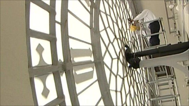 Staircase Big Ben : Inside big ben s clock tower as repairs are carried out