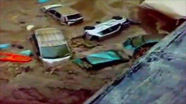 The mudslide in Atrani, Italy