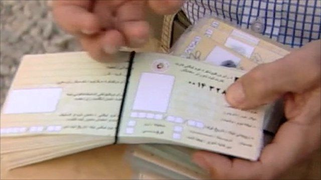 Fake voting cards in Afghanistan