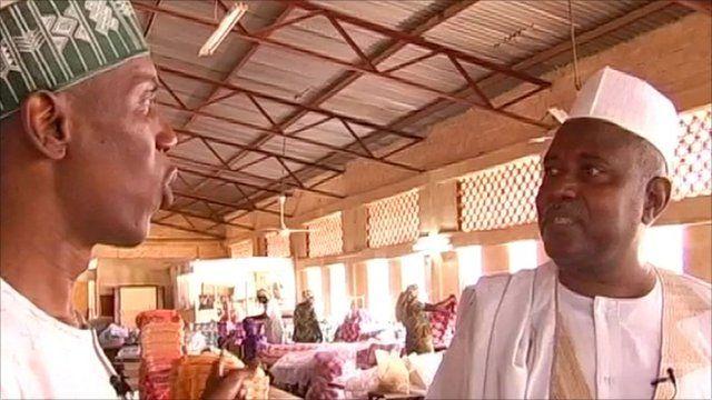 Ahmed Idris with businessman Alhaji Saidu Dattijo Adhama