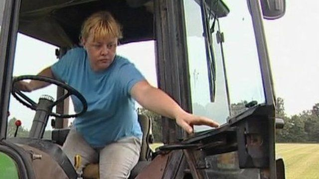 Worker on a care farm