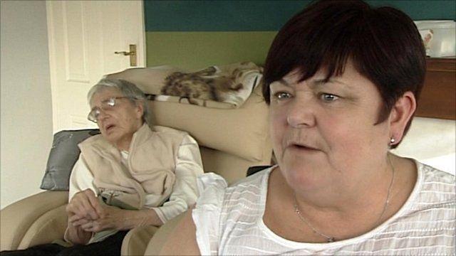 Carer Leslie Todd and her grandmother, Elsie Crockett