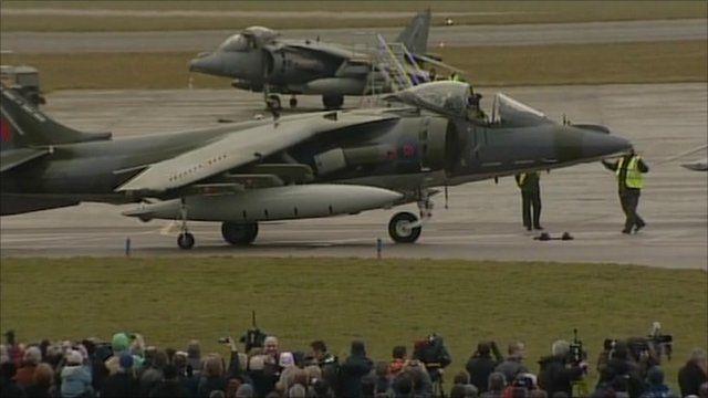 A Harrier at RAF Cottesmore