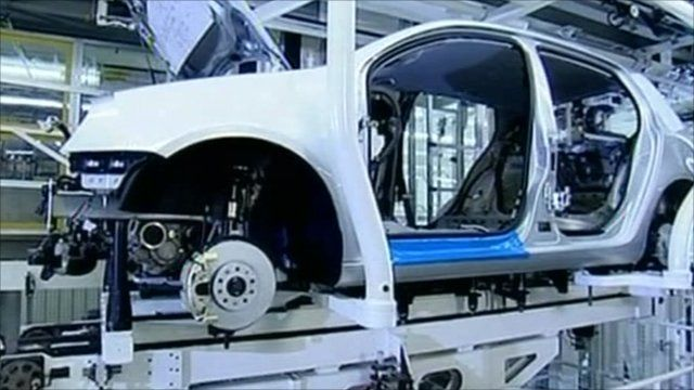 Inside a VW car plant