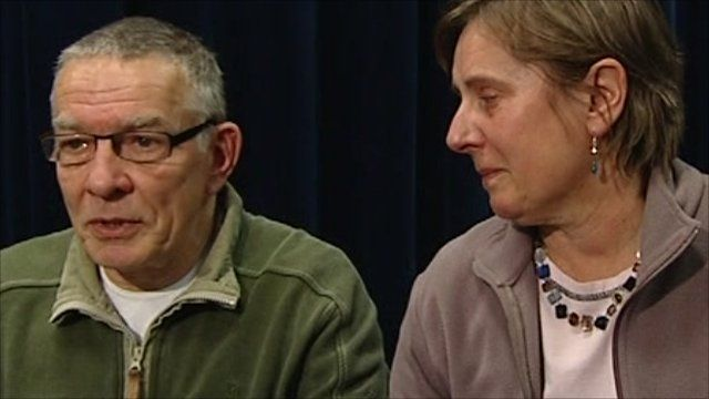 David and Teresa Yeates, parents of missing architect Joanna
