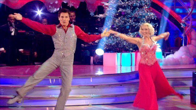 John Barrowman dancing the quickstep with partner Kristina Rihanoff