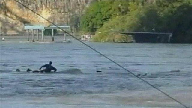 'Orion' yacht sinking in Brisbane River