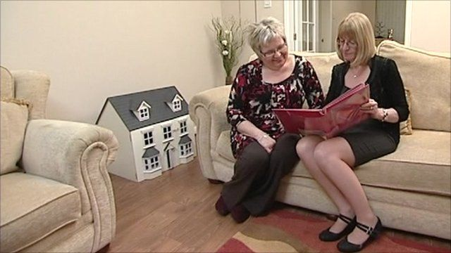Ladies in home environment