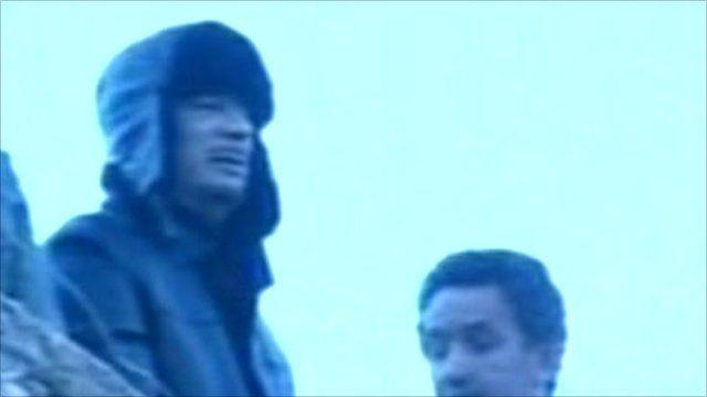 Libyan state television: Colonel Gaddafi in Green Square,Tripoli
