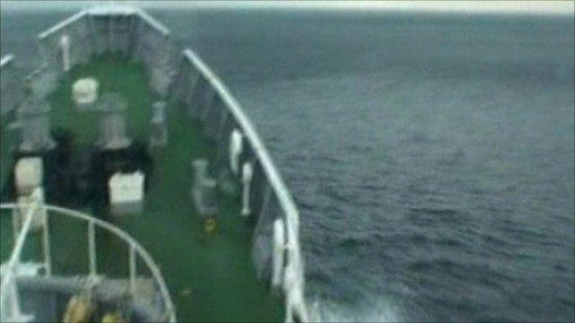 Japanese Coast Guard video of ship