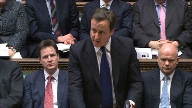 PM David Cameron speaking in the House of Commons