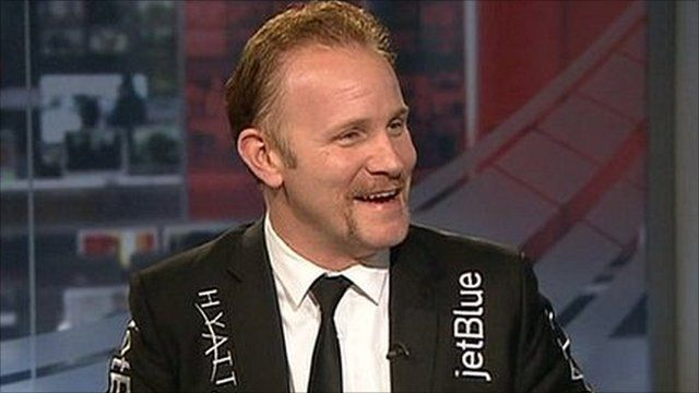 Morgan Spurlock in the BBC's Washington studio