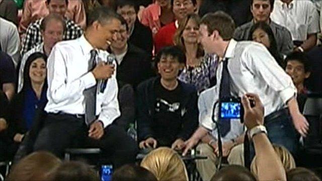 Barack Obama and Mark Zuckerberg