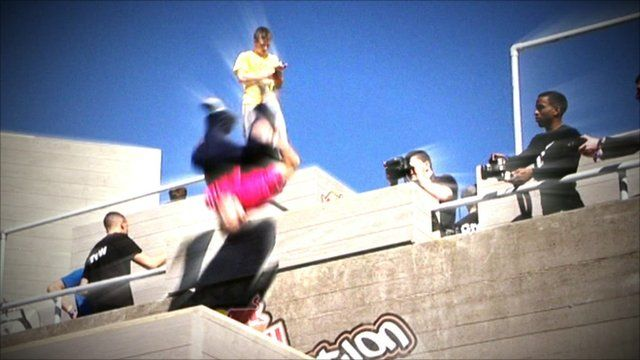 Parkour being performed in London