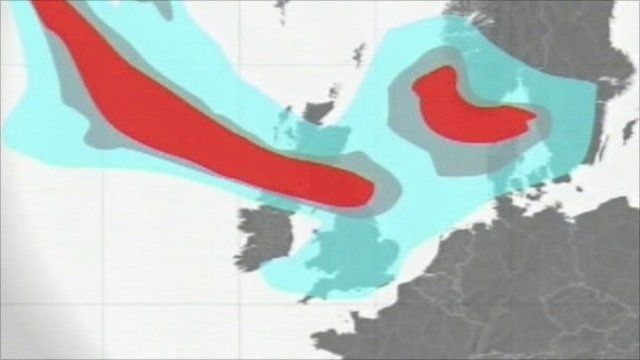 Met Office model of the ash cloud