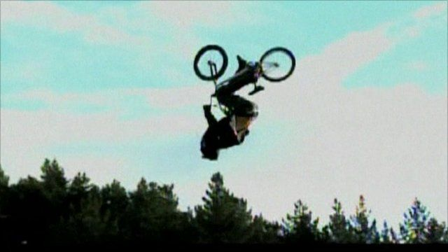 Jed Mildon in the air