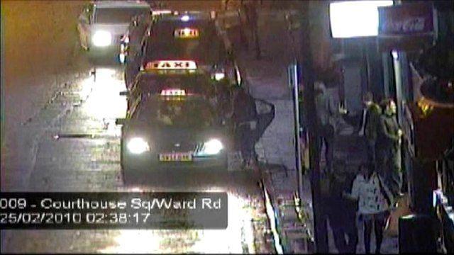 CCTV footage shows Mary McLaren walking along a street