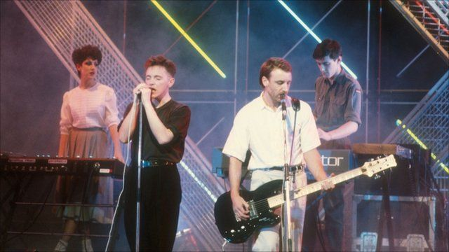 New Order performs on Top of The Pops in 983
