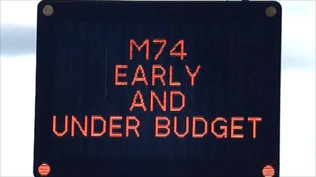 M74 Road sign, Scotland