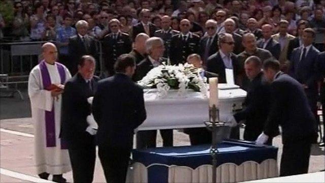 Coffin of Elisa Claps