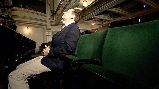 David Sillito in new theatre seat