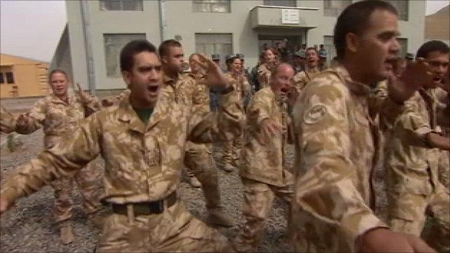 New Zealand troops