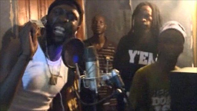 Rappers in Senegal
