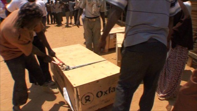 Aid from Oxfam arriving in Dadaab refugee camp