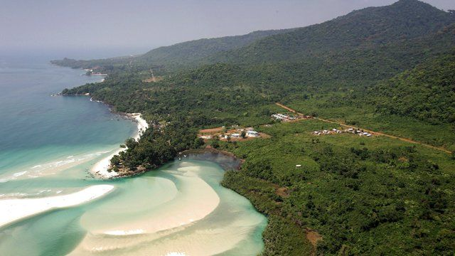 Beaches near Freetown, Sierra Leone