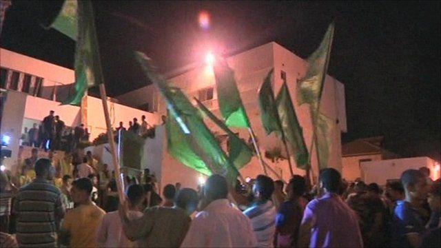 Celebrations in Gaza City