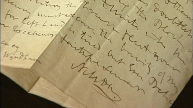Letter written by Admiral Lord Nelson