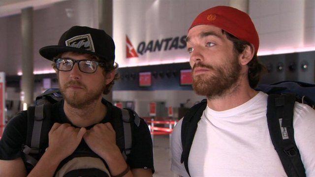 Two British airline passengers in Australia