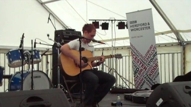 Sam Plowman performs at Wyeside