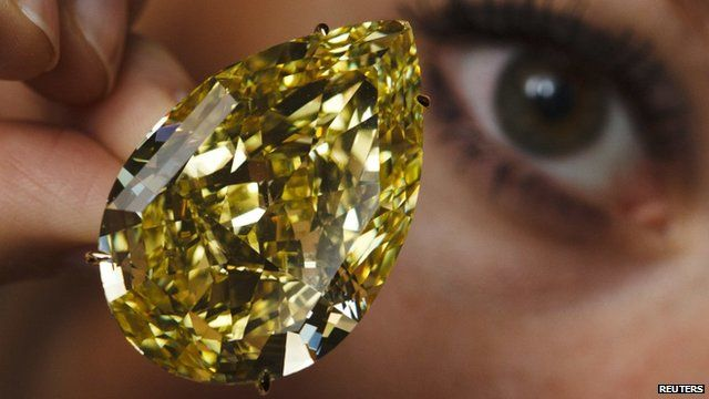 Yellow Sun-Drop diamond