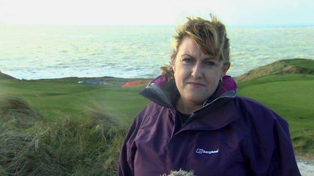 BBC Reporter Colette Hume at Porthdinllaen
