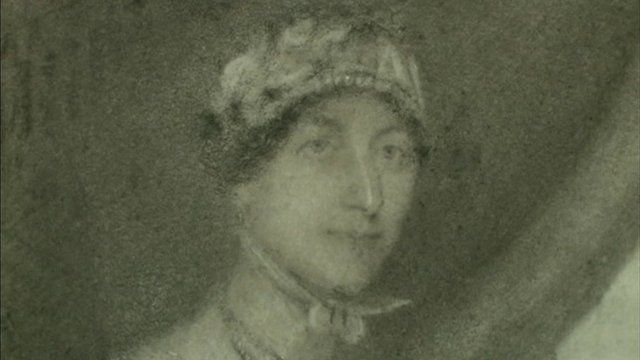 A portrait which some experts believe shows the face of Jane Austen