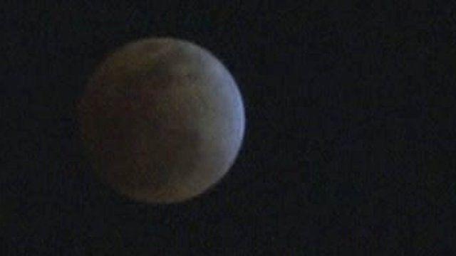 The moon in shadow