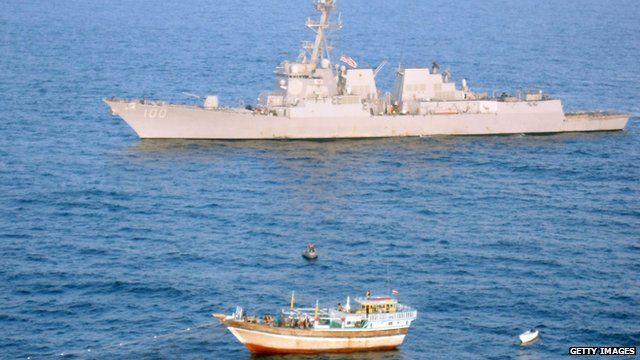 USS Kidd and Iranian vessel Al Molai