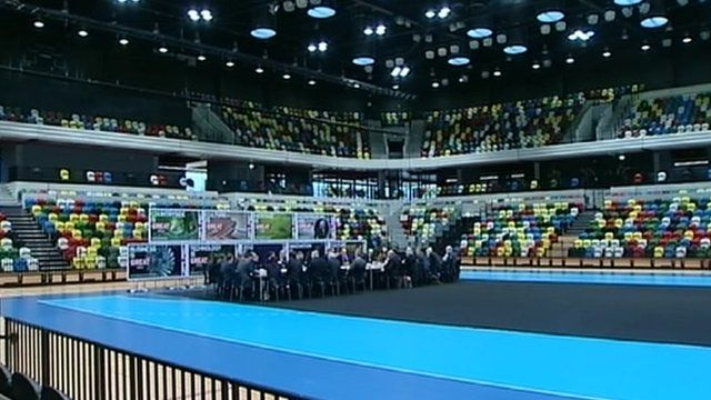 Cabinet hold meeting in new Olympic venue
