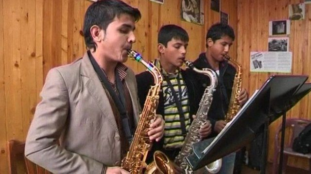 Students at Afghanistan National Institute of Music