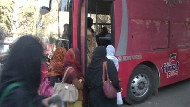 Pink bus service for women in Lahore