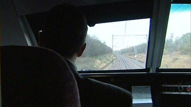 Drivers view of Norwich to London line