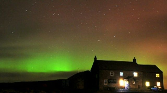 Sighting of the Northern Lights in the north of England