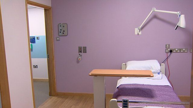 A room inside the new eating disorders unit at St John's Hospital