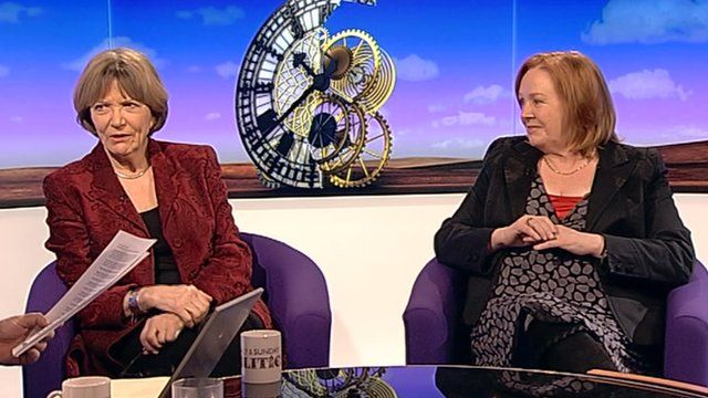 Voice coach Barbara Berkery and Joan Bakewell