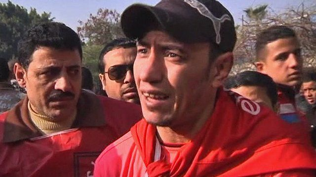 An Egyptian football fan