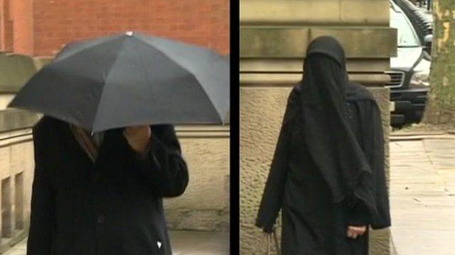 Ilyas Ashar and Tallat Ashar arriving at court
